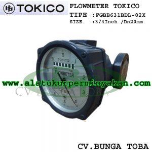 Oil Flow meter Tokico dn 20 mm Tipe FGBB631BDL02X | Flow meter tokico 3/4 inch | flow meter minyak tokico jepang size 3/4 inch | jual flow meter tokico 3/4
