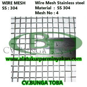 distributor wire mesh stainless steel mesh no 4 | cv.bunga toba | jual wire mesh ss 304 | jual wire mesh 316 | mesh stainless ss 304 | harga wire mesh
