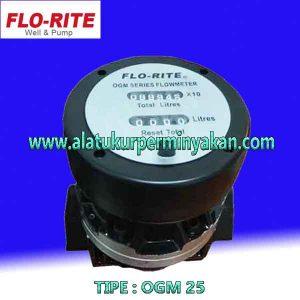 Oval Gear Flow meter merk FLO-RITE Tipe OGM 25 | CV.BUNGA TOBA | Jual flo-rite flow meter size 1 inch | OGM Florite ukuran 1 inch | flo-rite size 25 mm