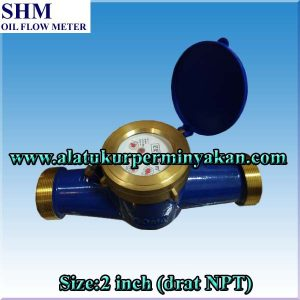 Flow meter 2inch koneksi drat npt merk SHM / CV.Bunga Toba / meteran air 2 inch drat / distributor water meter / flow meter air dn 50 mm / jual water meter