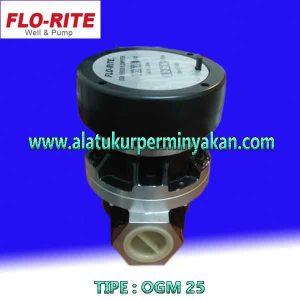 jual Oil flow meter minyak merk florite tipe OGM 25