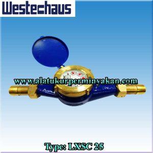westechaus 1 inch type lxsc 25 water meter / cv.bunga toba / jual flow meter air westechaus dn 25 mm / meteran air merk westechaus / distributor westechaus