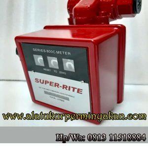 Fuel Flow meter Merk Super Rite 1 Inch 3 Digit